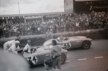 <h5>1953 nr.33 NOJ391</h5><p>After the Le Mans finish in 1953 nr.33 NOJ391, but actually NOJ393 driven by Becquart & Wilkins, started at 37th position but finished as 14th overall. Together with Nr 34 NOJ392 driven by Maus Gatsonides (NL) and Johnny Locket who started from position 31 and finished in 12th position.</p>