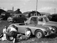 <h5>NOJ393 at Le Mans 1953</h5><p>After Le Mans Gordon Wilkins takes the car back to England for his holidays and because the car eventually needed to be returned.</p>