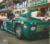 <h5>Healey SR at Le Mans</h5><p>The three-year assault on Le Mans by Donald M. Healey CBE and his son Geoffrey Healey, from 1968 to 1970 was probably one of the last sole manufacturers attempt at this event which almost resulted in success.</p>