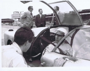 <p>In the car Clive Baker, kneeling John Harris and standing behind the car Barry Bilbie and Bic Healey.</p>