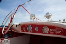 "<h5>The Healey Marine 75</h5><p>Donald Healey updated the Healey Marine product line with the ""Sports-Boat 75"" in 1958. Moving from the wooden hull of the type 55, the type 75 uses a fiberglass hull with teak wooden decking. (Read further on our Facebook pages: https://www.facebook.com/media/set/?set=a.605729562780845.1073741877.458798004140669&type=3</p>"